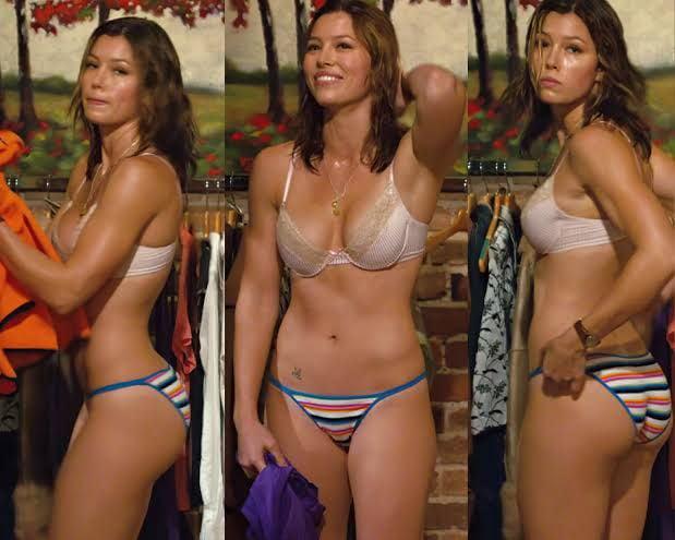 Jessica Biel Panties Gif